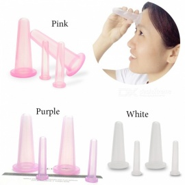Health Care Facial Massage Cupping Cup Vacuum Cellulite Cupping Cup Body Treatment Face Therapy Home Use - 4PCS Pink