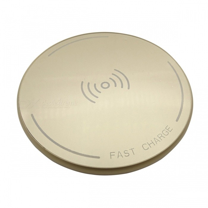 ST10 12W High Speed Qi Wireless Charger for Mobile Phone - GoldenWireless Chargers<br>Form  ColorGoldenPower AdapterWithout Power AdapterModelST10Quantity1 DX.PCM.Model.AttributeModel.UnitMaterialMetal + acrylicExecutive StandardQiShade Of ColorGoldTypeChargerTransmition Distance5-10mmInput9V 2AOutput interface, output current, output voltage9V 1.5ALED IndicatorYesCertificationCE FCC RoHsPacking List1 x Wireless Charger1 x Transmission Cable<br>