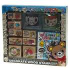 Cute South Korea Style Wooden Stamp Set - Style Assorted (12-Pattern/Set)