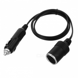 High Quality Car Cigarette Lighter Socket Extension Cable Cord Wire 12V 24V 10A Car Accessory 1~5 Meters 1 meter