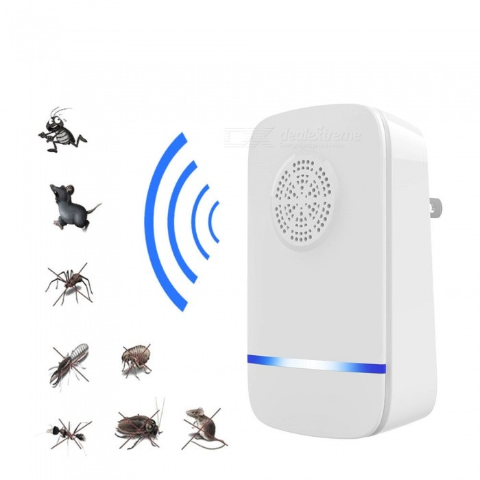 808 Portable Plug-In Type Ultrasonic Pest Repeller for Home Use - White (US Plug)Form  ColorWhitePower AdapterUS PlugModel808MaterialABSQuantity1 DX.PCM.Model.AttributeModel.UnitPower5 DX.PCM.Model.AttributeModel.UnitRate VoltageAC220V-AC110VForm  ColorWhitePower AdapterUS PlugPacking List1 x Pest Repeller<br>