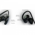 Sweat-proof Bluetooth Wireless Earhook Stereo Sport Running Headset Earphone for IPHONE / IPAD / Samsung Galaxy, Tablet - Black