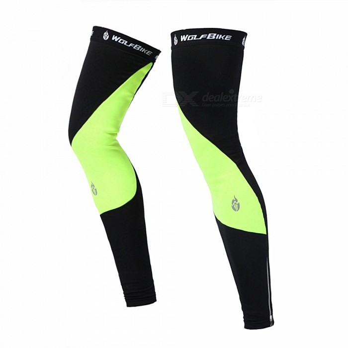 Outdoor Sports Unisex Cycling Leg Sleeves Breathable Warm Windproof Spandex Leg Warmer - Fluorescent Green (M)Leg Gaiters &amp; Leg Sleeves<br>Form  ColorFluorescent GreenSizeMModelBC320Quantity1 DX.PCM.Model.AttributeModel.UnitMaterialComposite fleece fabricGenderUnisexSuitable forAdultsPacking List1 x Pairs of Leg Sleeves<br>