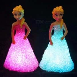 Elsa/ Anna LED Colorful Gradient Crystal Night Light LED Lamp with Battery Christmas Toy Holiday Gift for Kids Elsa night light
