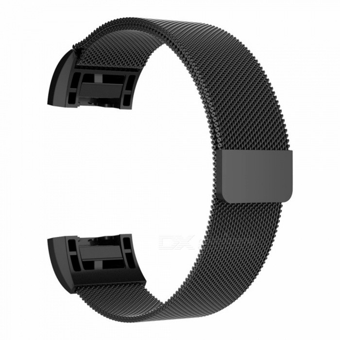 Miimall Milanese Loop Stainless Steel Watch Wrist Replacement Band for Fitbit Charge 2 - BlackWearable Device Accessories<br>Form  ColorBlackModelFibit Charge 2 BandsQuantity1 pieceMaterialStainless SteelForm  ColorBlackPacking List1 x Milanese Loop Stainless Steel Fitbit Charge 2 Band ( Black )<br>