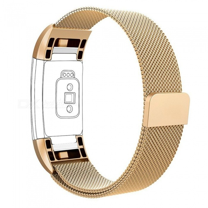 Miimall Milanese Loop Stainless Steel Watch Wrist Replacement Band for Fitbit Charge 2 - GoldenWearable Device Accessories<br>Form  ColorGoldenModelFibit Charge 2 BandsQuantity1 pieceMaterialStainless SteelForm  ColorGoldenPacking List1 x Milanese Loop Stainless Steel Fitbit Charge 2 Band ( Golden )<br>