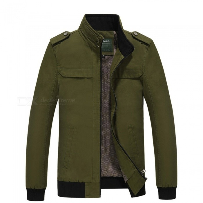 7715 Outdoor Mens Stylish Slim Cotton Jacket Coat - Green (L)Jackets and Coats<br>Form  ColorGreenSizeLModel7715Quantity1 DX.PCM.Model.AttributeModel.UnitShade Of ColorGreenMaterialSurface and polyesterStyleFashionTop FlyZipperShoulder Width46.5 DX.PCM.Model.AttributeModel.UnitChest Girth110 DX.PCM.Model.AttributeModel.UnitWaist Girth110 DX.PCM.Model.AttributeModel.UnitSleeve Length62.5 DX.PCM.Model.AttributeModel.UnitTotal Length67 DX.PCM.Model.AttributeModel.UnitSuitable for Height175 DX.PCM.Model.AttributeModel.UnitPacking List1 x Coat<br>