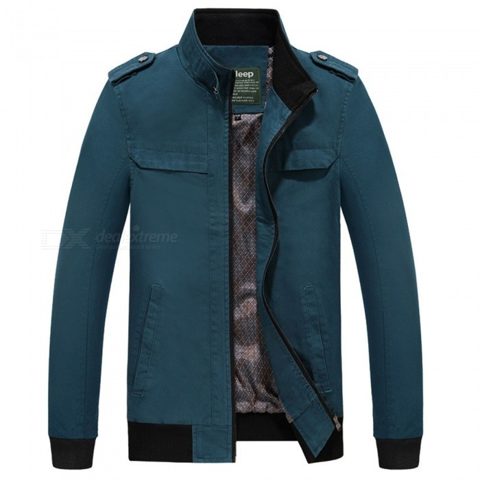 7715 Outdoor Mens Stylish Slim Cotton Jacket Coat - Light blue (XL)Jackets and Coats<br>Form  ColorLight BlueSizeXLModel7715Quantity1 DX.PCM.Model.AttributeModel.UnitShade Of ColorBlueMaterialSurface and polyesterStyleFashionTop FlyZipperShoulder Width448 DX.PCM.Model.AttributeModel.UnitChest Girth114 DX.PCM.Model.AttributeModel.UnitWaist Girth114 DX.PCM.Model.AttributeModel.UnitSleeve Length64 DX.PCM.Model.AttributeModel.UnitTotal Length69 DX.PCM.Model.AttributeModel.UnitSuitable for Height180 DX.PCM.Model.AttributeModel.UnitPacking List1 x Coat<br>