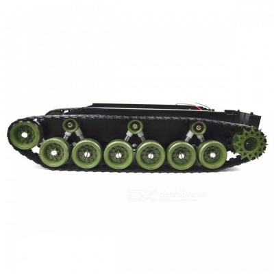 SINONING Shock Absorption Damping Balance Tank Robot Chassis Platform High Power Remote Control DIY Toy for Arduino Green