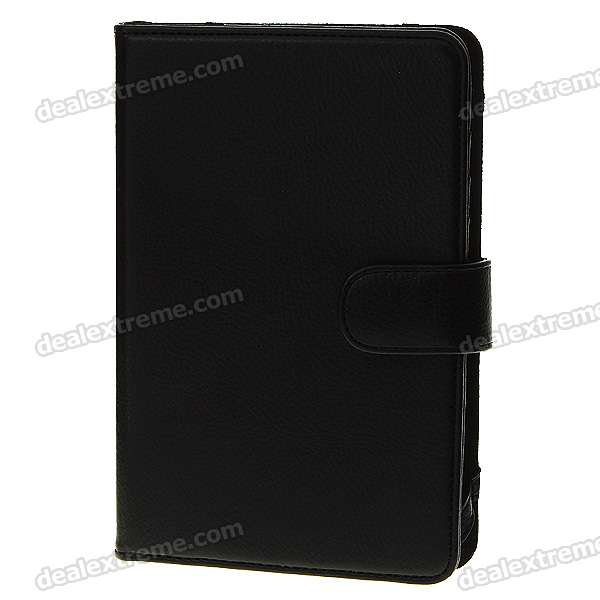 Protection PU Leather Case with Money & Cards Compartments for Kindle 3 - Black