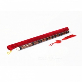 Professional Refined Single Black Tie Bamboo Flute for Beginner