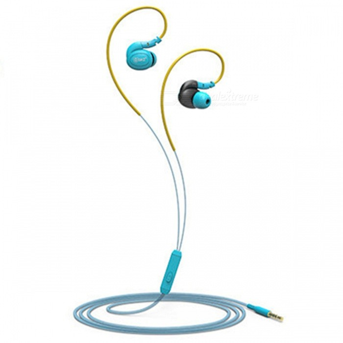 QKZ DM100 Waterproof Sweatproof IPX5 Stereo Bass In-ear Earphone, Music Headset with Mic for Sports Running - BlueHeadphones<br>Form  ColorBlueBrandOthers,QKZModelDM100MaterialABS + TPEQuantity1 DX.PCM.Model.AttributeModel.UnitConnection3.5mm WiredBluetooth VersionNoCable Length120 DX.PCM.Model.AttributeModel.UnitLeft &amp; Right Cables TypeEqual LengthHeadphone StyleBilateral,Earbud,In-Ear,Ear-hookWaterproof LevelIPX5Applicable ProductsUniversal,IPHONE 7,IPHONE 7 PLUSHeadphone FeaturesNoise-Canceling,Volume Control,With Microphone,Lightweight,Portable,For Sports &amp; ExerciseRadio TunerNoSupport Memory CardNoSupport Apt-XNoChannels2.0Sensitivity120dBFrequency Response20-2000HZImpedance32 DX.PCM.Model.AttributeModel.UnitDriver Unit9MM *2Battery TypeOthers,NOForm  ColorBluePacking List1 x DM100 Earphone3 Set x Ear caps1 x Ear box<br>