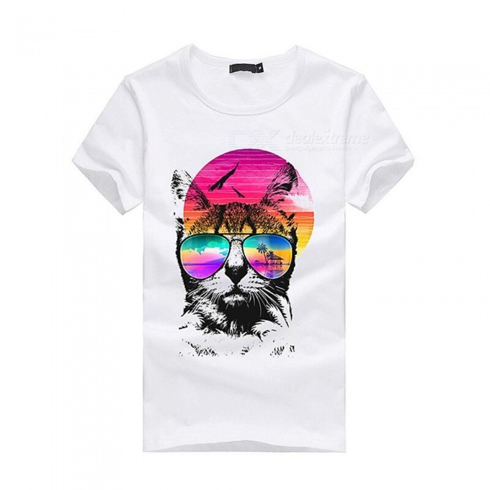 3D Colorful Pattern Fashion Personality Casual Cotton Short-Sleeved T-Shirt for Men - White (M)Tees<br>Form  ColorWhiteSizeMQuantity1 DX.PCM.Model.AttributeModel.UnitShade Of ColorWhiteMaterialCottonShoulder Width46 DX.PCM.Model.AttributeModel.UnitChest Girth92 DX.PCM.Model.AttributeModel.UnitSleeve Length19 DX.PCM.Model.AttributeModel.UnitTotal Length65 DX.PCM.Model.AttributeModel.UnitSuitable for Height165 DX.PCM.Model.AttributeModel.UnitPacking List1 x Short sleeve T-shirt<br>