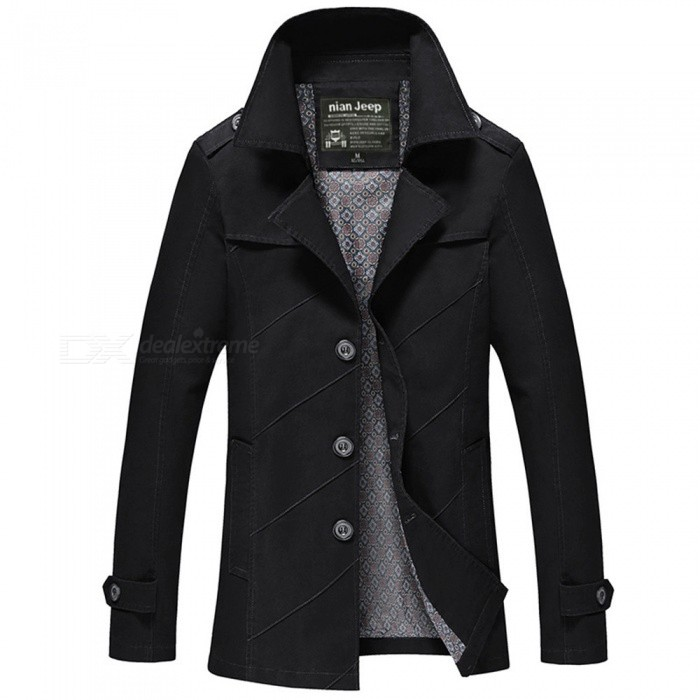 1111 Mens Slim Outdoor Casual Fashion Suit Jacket Coat - Black (L)Jackets and Coats<br>Form  ColorBlackSizeLModel1111Quantity1 pieceShade Of ColorBlackMaterialCotton and polyesterStyleFashionTop FlyZipperShoulder Width46 cmChest Girth106 cmWaist Girth106 cmSleeve Length61.5 cmTotal Length73.5 cmSuitable for Height170 cmPacking List1 x Coat<br>