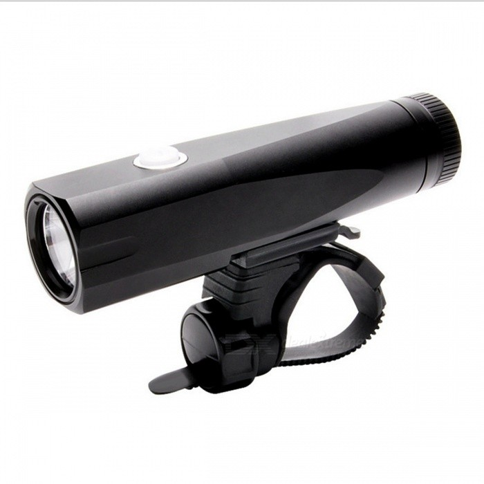 ZHISHUNJIA LR-Y1 800lm 5-Mode LED Flashlight Bike Light Headlamp USB Rechargeable Bicycle LampBike Lights<br>Form  ColorBlackModelLR-Y1Quantity1 setMaterialAluminium alloyEmitter BrandCreeLED TypeXM-LEmitter BINT6Number of Emitters1Color BINWhiteWorking Voltage   3.7 VPower Supply1*18650Current1.2-2 ATheoretical Lumens900 lumensActual Lumens800 lumensRuntime4 hourNumber of Modes5Mode ArrangementHi,Mid,Low,Fast Strobe,SOSMode MemoryNoSwitch TypeForward clickyLensGlassReflectorAluminum SmoothFlashlight MountingHandlebarSwitch LocationSideBeam Range100 mBike Lamp Interface SizeUSBBattery Pack Interface SizeUSBPacking List1 x Flashlight1 x Clip1 x USB Cable1 x Instructions<br>