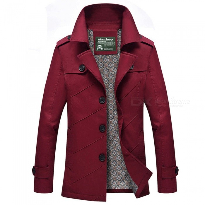 1111 Mens Slim Outdoor Casual Fashion Suit Jacket Coat - Wine Red (3XL)Jackets and Coats<br>Form  ColorClaret RedSizeXXXLModel1111Quantity1 DX.PCM.Model.AttributeModel.UnitShade Of ColorRedMaterialCotton and polyesterStyleFashionTop FlyZipperShoulder Width49.5 DX.PCM.Model.AttributeModel.UnitChest Girth116 DX.PCM.Model.AttributeModel.UnitWaist Girth116 DX.PCM.Model.AttributeModel.UnitSleeve Length66 DX.PCM.Model.AttributeModel.UnitTotal Length79.5 DX.PCM.Model.AttributeModel.UnitSuitable for Height183 DX.PCM.Model.AttributeModel.UnitPacking List1 x Coat<br>