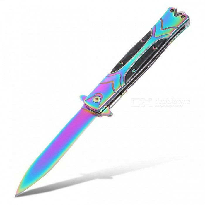 CTSmart Color High Hardness Folding Tactical Knife with Clip for Outdoor Camping Survival