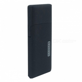 Premium Portable Ultra Thin Slim Metal Gas Inflatable Lighter - Black