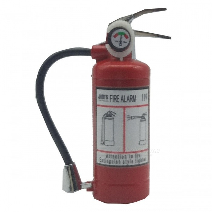 Creative Fire Extinguisher Shape Gas Inflatable Lighter IgniterButane Jet Lighters<br>Form  ColorRedModelss007MaterialAlloyQuantity1 pieceShade Of ColorRedTypeGasWindproofNoFuelInflatablePacking List1 x Lighter<br>
