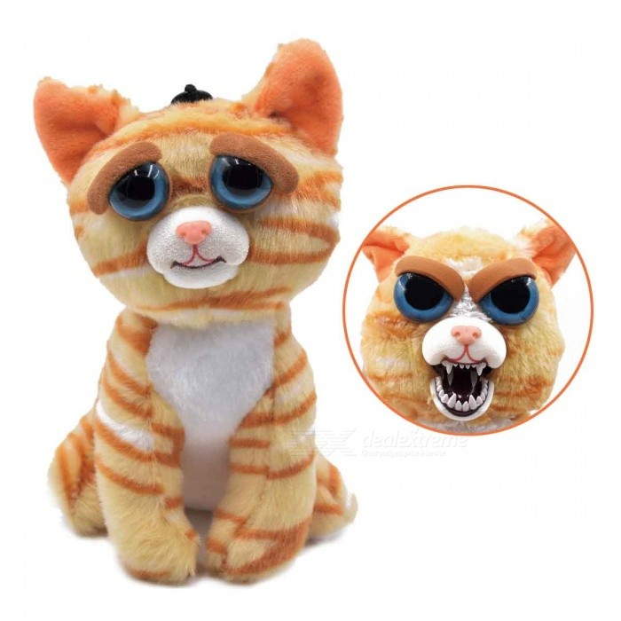 Super Cute Face-Changing Plush Doll Princess Pontiy Cat for KidsDolls and Stuffed Toys<br>Form  ColorOrange + White + Multi-ColoredMaterialPlushQuantity1 setSuitable Age 3-6 months,6-9 months,9-12 monthsPacking List1 x Doll<br>