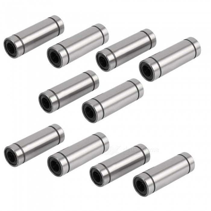YENISEI LM8LUU 8mmx15mmx45mm Linear Motion Bushing Ball Bearing - Silver (10 PCS)3D Printer Parts<br>Form  ColorBlack + SilverModelLM8LUUQuantity10 DX.PCM.Model.AttributeModel.UnitMaterialSteel + RubberEnglish Manual / SpecNoOther FeaturesOutside Diameter: 15mm/0.6;<br>Inside Diameter: 8mm/0.32CertificationRoHSPacking List10 x Linear Ball Bearings<br>