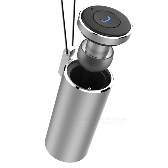 Q20 Super Mini Invisible Lightweight Bluetooth Wireless Earbuds Earpiece Headset for Sports, Driving - SilverOther Bluetooth Devices<br>Form  ColorSilverModelQ20MaterialAluminium alloyQuantity1 DX.PCM.Model.AttributeModel.UnitShade Of ColorSilverBluetooth VersionOthers,Bluetooth V4.2Bluetooth ChipICOperating Range10MStandby Time8 DX.PCM.Model.AttributeModel.UnitApplicable ProductsUniversalBattery TypeLi-polymer batteryBuilt-in Battery Capacity 20 DX.PCM.Model.AttributeModel.UnitPower AdapterUSBPower Supply500mAPacking List1 x Headset1 x Charging base1 x Data line<br>