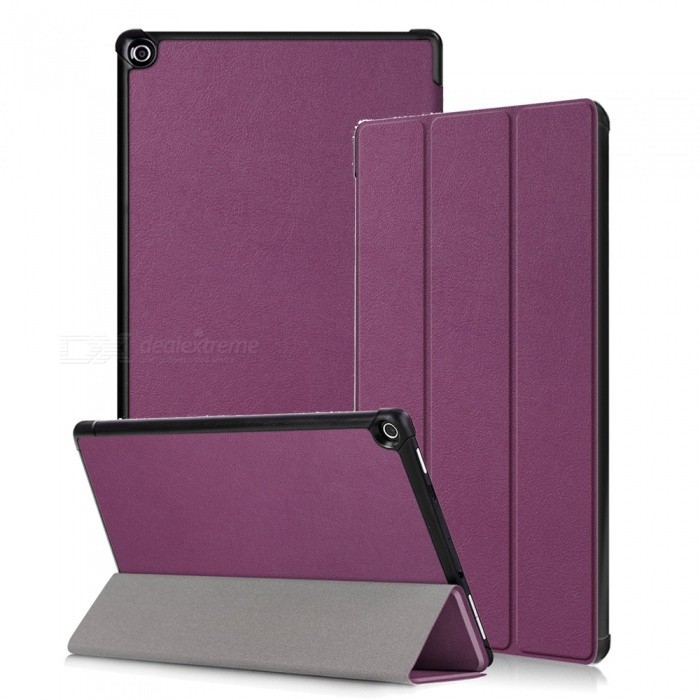 Miimall Kindle Fire HD 10 Case 2017, Tri-Fold Leather Ultra Slim Stand Protective Cover Case for Amazon Fire HD 10 2017 10.1Tablet Cases<br>Form  ColorPurpleModelFire HD 10 CaseQuantity1 DX.PCM.Model.AttributeModel.UnitShade Of ColorPurpleMaterialPU + PCCompatible ModelAmazon Fire HD 10 2017Compatible BrandOthersTypeBack Covers,Cases with Stand,Leather Cases,Full Body CasesStyleBusiness,Casual,Fashion,ContemporaryCompatible Size10.1 inchPacking List1 x Slim Case for Amazon Fire HD 10 2017<br>