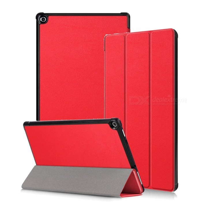 Miimall Kindle Fire HD 10 Case 2017, Tri-Fold Leather Ultra Slim Stand Protective Cover Case for Amazon Fire HD 10 2017 10.1Tablet Cases<br>Form  ColorRedModelFire HD 10 CaseQuantity1 DX.PCM.Model.AttributeModel.UnitShade Of ColorRedMaterialPU + PCCompatible ModelAmazon Fire HD 10 2017Compatible BrandOthersTypeBack Covers,Cases with Stand,Leather Cases,Full Body CasesStyleBusiness,Casual,Fashion,ContemporaryCompatible Size10.1 inchPacking List1 x Slim Case for Amazon Fire HD 10 2017<br>