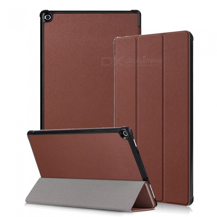 Miimall Kindle Fire HD 10 Case 2017, Tri-Fold Leather Ultra Slim Stand Protective Cover Case for Amazon Fire HD 10 2017 10.1Tablet Cases<br>Form  ColorBrownModelFire HD 10 CaseQuantity1 pieceShade Of ColorBrownMaterialPU + PCCompatible ModelAmazon Fire HD 10 2017Compatible BrandOthersTypeBack Covers,Cases with Stand,Leather Cases,Full Body CasesStyleBusiness,Casual,Fashion,ContemporaryCompatible Size10.1 inchPacking List1 x Slim Case for Amazon Fire HD 10 2017<br>