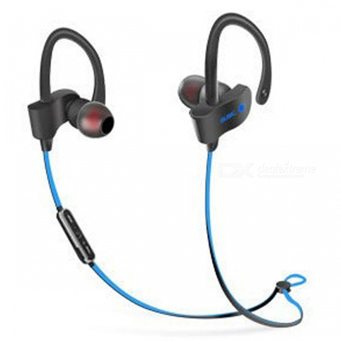 Sports Stylish Earhook Style Bluetooth V4.1 Earphones Headset Stereo Headphones for Running - Blue + BlackOther Bluetooth Devices<br>Form  ColorBlack + BlueMaterialEnvironmental protection materialsQuantity1 setShade Of ColorBlackBluetooth VersionOthers,4.1Operating Range10mStandby Time150 hourApplicable ProductsIPHONE 5,IPHONE 4,IPHONE 4S,IPHONE 3G,MP3,MP4,IPHONE 5SBuilt-in Battery Capacity 70 mAhPacking List1 x Set of earphones<br>