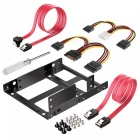"Qook inateck st1002s 2""x2.5"" ssd to 3.5"" internal hard disk drive mounting kit bracket (sata data and power cables included)"