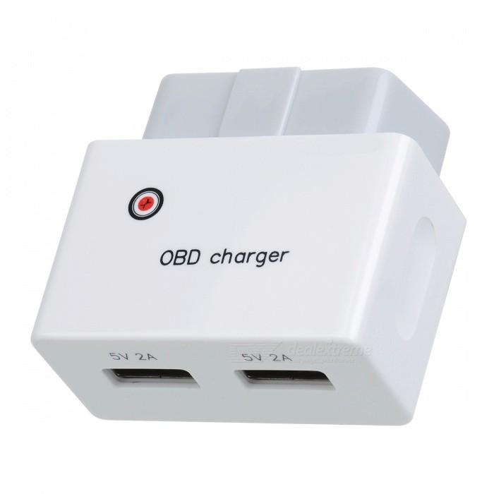 High Quality OBD Charger Uninterrupted Charger with Dual USB PortsCar Power Chargers<br>Form  ColorWhite + Light GreyModelSP-162Quantity1 DX.PCM.Model.AttributeModel.UnitMaterialABSInput Voltage12~24 DX.PCM.Model.AttributeModel.UnitOutput Voltage5 DX.PCM.Model.AttributeModel.UnitOutput Current2.1 DX.PCM.Model.AttributeModel.UnitPacking List1 x OBD Charger<br>