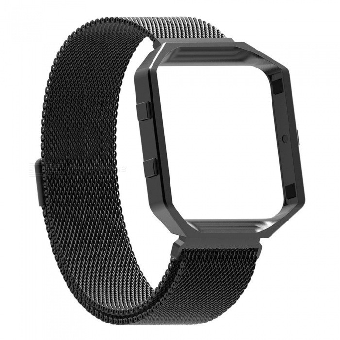 Miimall Fitbit Blaze Accessories Band, Milanese Stainless Steel Bracelet Strap Band with Frame Housing for Fitbit Blaze - BlackWearable Device Accessories<br>Form  ColorBlackModelFibit Blaze Band and FrameQuantity1 DX.PCM.Model.AttributeModel.UnitMaterialStainless SteelPacking List1 x Miimall Fibit Blaze Band and Frame<br>