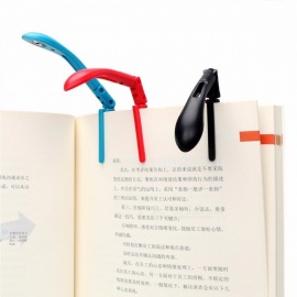 Itimo-Clip-on-Leselampe mit Akku, verstellbare, flexible Falt-LED-Leselampe für Leser-Kindle-Blau