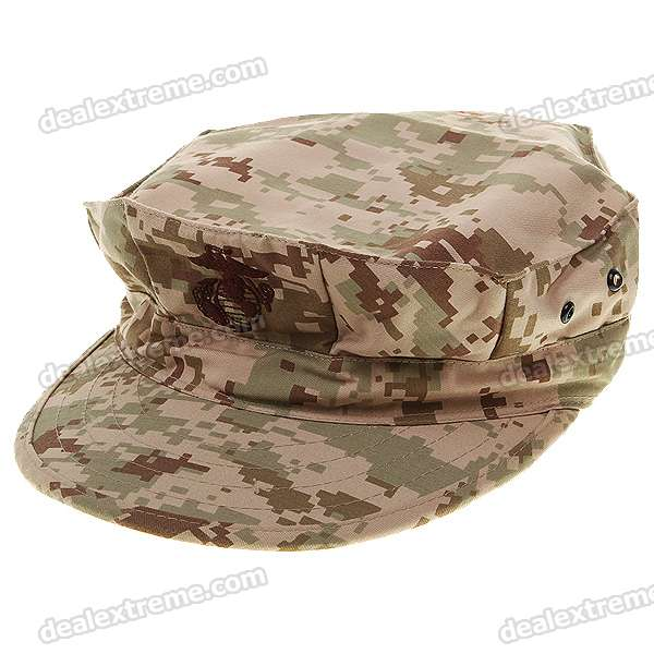 Military Octagon Shaped Hat Cap - Camouflage Khaki military hat flat cap m177