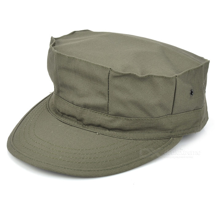 Military Octagon Shaped Hat Cap - Army Green military hat flat cap m177