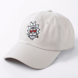 High Quality Cotton Baseball Cap Bone Snapback, New US Animation Rick Cap, Rick and Morty Dad Hat, Adjustable Casquette Beige