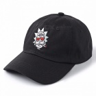 High Quality Cotton Baseball Cap Bone Snapback, New US Animation Rick Cap, Rick and Morty Dad Hat, Adjustable Casquette Black