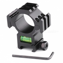 ACCU Aluminum Alloy Tactical 20mm Gun Mount with Spirit Level / Three-Sided 20mm Rail for 30mm Barrels