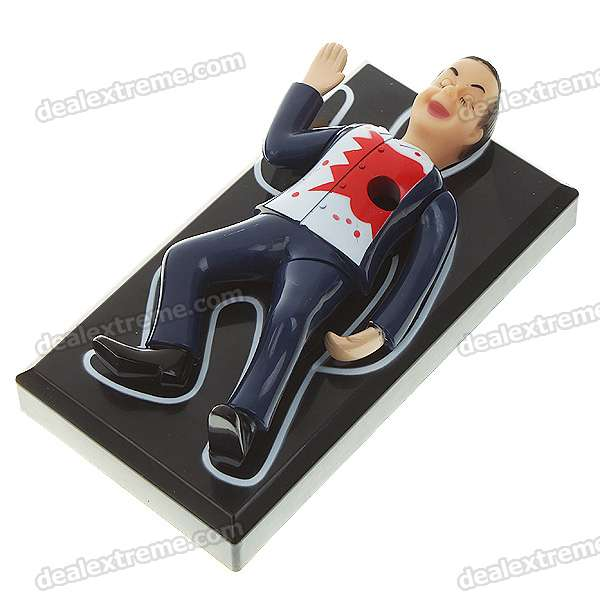 Scare Hollow Heart Boy Pen Holder with Body Vibrating & Horror Sound Effects (3*AA)