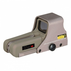 OUMILY Red and Green Dot Sight Airsoft Reflex Sight, Supports 20mm Rail Mount - Golden + Khaki