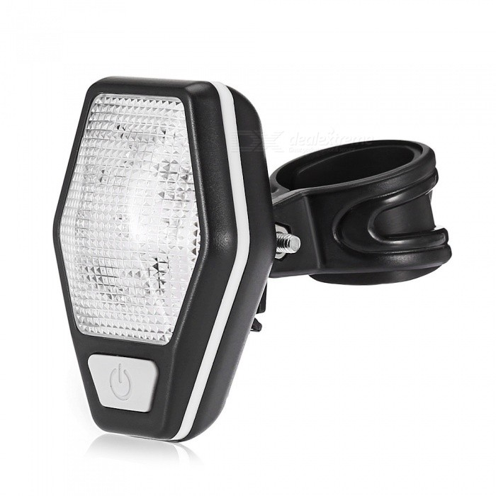CTSmart New Mini Dual Flash LED Safety Warning Light for Bike Night RidingBike Light<br>Form  ColorWhiteQuantity1 DX.PCM.Model.AttributeModel.UnitMaterialABSTypePedalsPacking List1 x Lamp1 x Mounting base 1 x VII batteries<br>