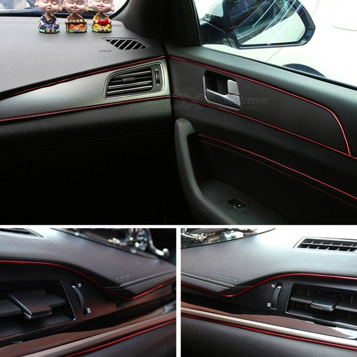 p top 5m auto styling interieur decoratie strips dashboard deurrand universele auto accessoires