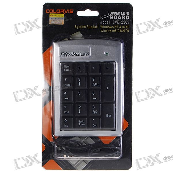 USB Portable Keypad with Retractable Cable ce emc lvd fcc mini ozonizer with ionizer for water and air treatment