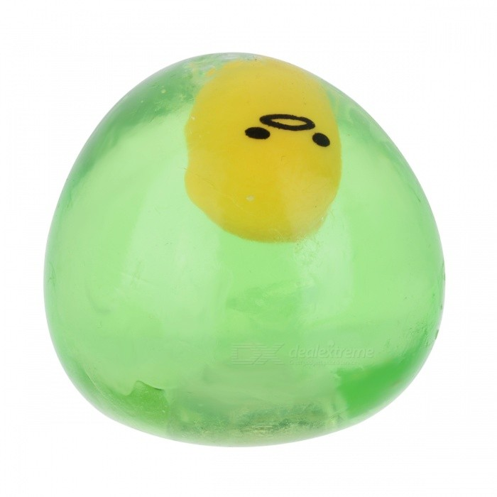 Funny Egg Style Stress Relief Reliever Squeezed Toy - GreenStress Relievers<br>Form  ColorTranslucent GreenMaterialTPRQuantity1 DX.PCM.Model.AttributeModel.UnitSuitable Age 5-7 years,8-11 years,12-15 years,Grown upsPacking List1 x Toy<br>