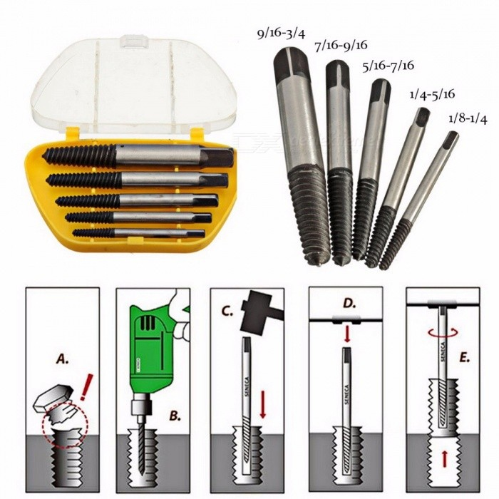Back To Search Resultstools 5 Pcs Small High Speed Steel Hexagon Pattern Remove Set Easy Out Screw Bolt Power Tools Portable Damaged Drill Bits Extractor Hand & Power Tool Accessories