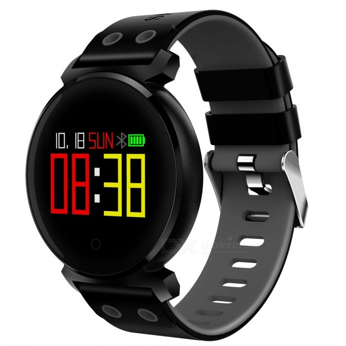 JSBP K2 Color Screen Smart Bracelet Wristband with IP68 Waterproof, Blood Pressure, Blood Oxygen, Heart Rate Monitor - BlackSmart Bracelets<br>Form  ColorBlackModelK2Quantity1 pieceMaterialSilicone+KirsiteShade Of ColorBlackWater-proofIP68Bluetooth VersionBluetooth V4.0Touch Screen TypeCapacitive ScreenCompatible OSAndroid&amp;IOSBattery Capacity200 mAhBattery TypeLi-polymer batteryStandby Time30 daysOther Featureswork days:15days;<br>Memory:64K(Flash 512K);<br>Chip:NRF52832;<br>Notification:Synchronous data to APK/APPPacking List1 x K2 Smart Bracelet1 x USB Charging Cable1 x English User Manual<br>