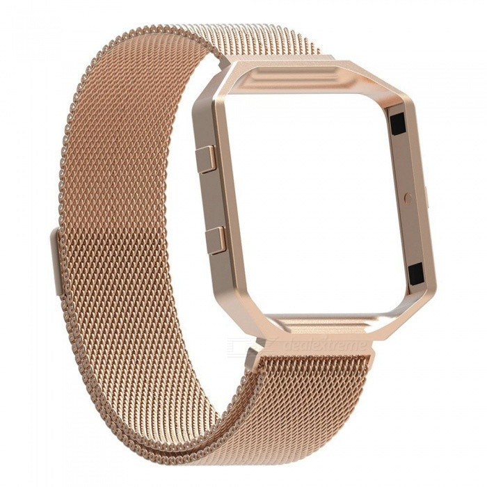 Miimall Fitbit Blaze Accessories Band, Milanese Stainless Steel Bracelet Strap Band with Frame Housing for Fitbit BlazeWearable Device Accessories<br>Form  ColorRose GoldModelFibit Blaze Band and FrameQuantity1 setMaterialStainless SteelPacking List1 x Miimall Fibit Blaze Band and Frame<br>