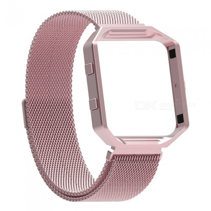 Miimall Fitbit Blaze Accessories Band, Milanese Stainless Steel Bracelet Strap Band with Frame Housing for Fitbit Blaze - PinkWearable Device Accessories<br>Form  ColorPinkModelFibit Blaze Band and FrameQuantity1 DX.PCM.Model.AttributeModel.UnitMaterialStainless SteelPacking List1 x Miimall Fibit Blaze Band and Frame<br>