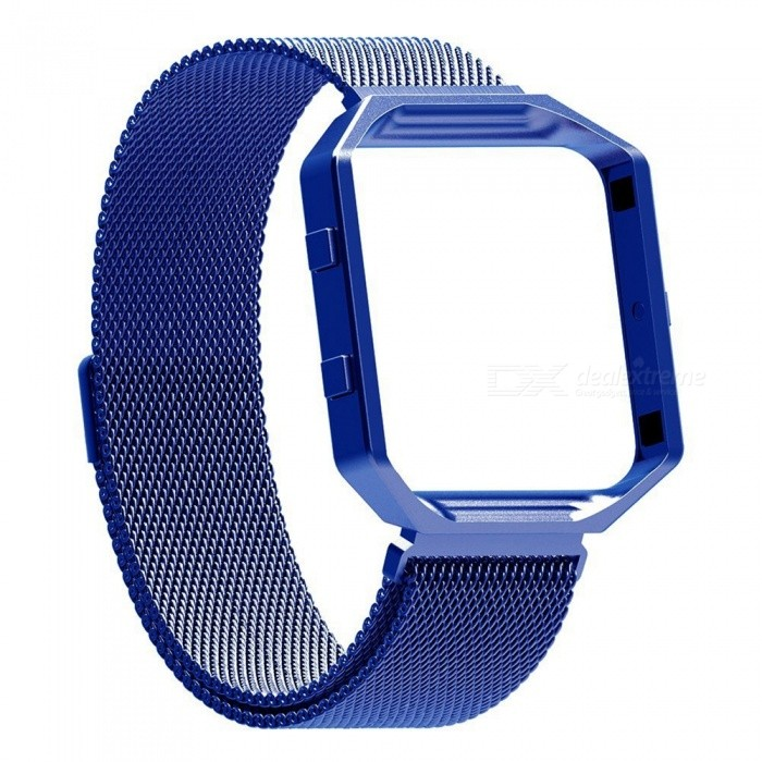 Miimall Fitbit Blaze Accessories Band, Milanese Stainless Steel Bracelet Strap Band with Frame Housing for Fitbit Blaze - BlueWearable Device Accessories<br>Form  ColorBlueModelFibit Blaze Band and FrameQuantity1 DX.PCM.Model.AttributeModel.UnitMaterialStainless SteelPacking List1 x Miimall Fibit Blaze Band and Frame<br>